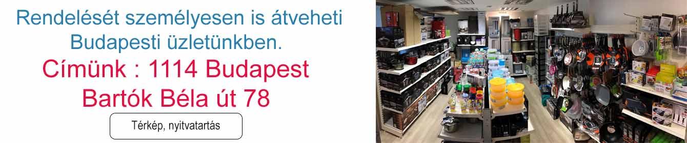 Rendelését személyesen is átveheti boltunkban! 1114 Budapest Bartók Béla út 78